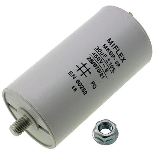 Condensador de Arranque 45/µf Conector M8; Miflex; 45uF Condensador para Motor 450/V 45/x 119/mm
