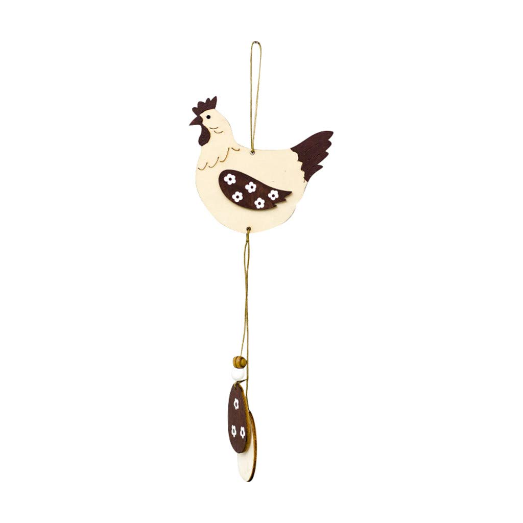 Sunyastor Easter Day Decorations Home Creative Ornament Exquisite Premium Wooden Pendant Hanging Decoration Polite for Home