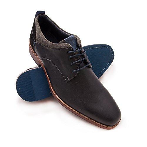 Zerimar Zapato de Piel Para Hombre Zapato Elegante Para Hombre Color Negro Talla 45