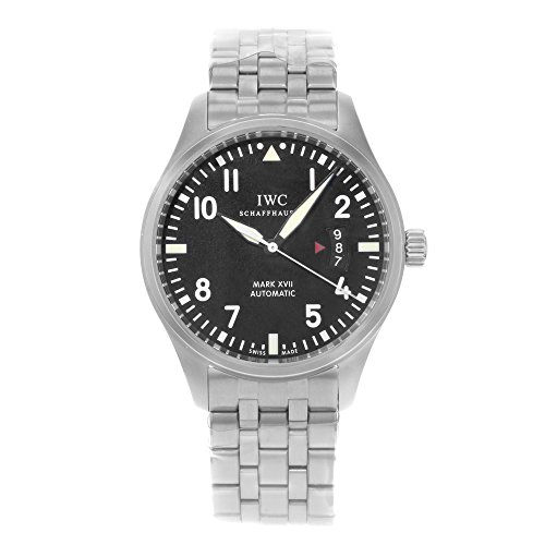 (IWC Men's Swiss Automatic Watch with Stainless Steel Strap, Black (Model: IW326504))