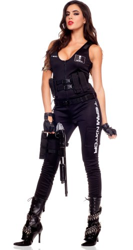 Music Legs Sexy Womens Terminator Assault Team Cosplay Halloween Costume XS -