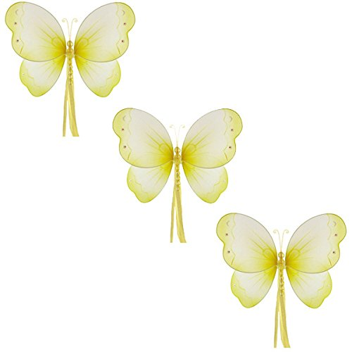 (The Butterfly Grove Briana Mesh/Nylon 3D Hanging Decoration, Yellow Medium/11