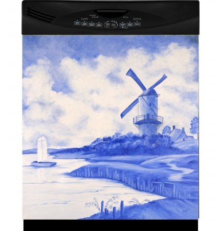 Blue Windmill Custom Dishwasher Panel