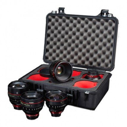 Canon Case for Cine Prime Lenses 6 cut-outs by 6Ave