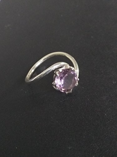 Amethyst Personalized Ring - Amethyst Cut Ring - February Birthstone Ring - Silver Statement Ring - 925 Silver Amethyst Ring - Mom Gift Ring - Amethyst Birthstone Ring - Birthday gift - Purple stone ring- Round Shape ring