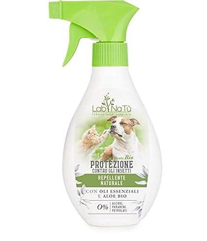 LABNATU - Spray Repelente de Insectos - Perro y Gato - Lavanda, Eucalipto,