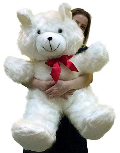 Big Plush American Made Giant White Teddy Bear 36 Inch Soft 3 Foot Teddybear Made in USA