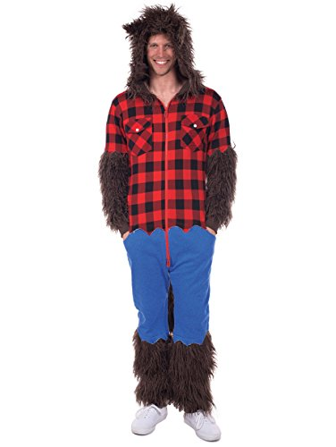 Men's Werewolf Costume - Wolfman Jumpsuit Halloween Costume for Men -
