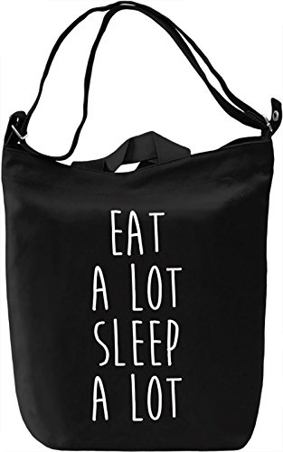 Eat And Sleep Borsa Giornaliera Canvas Canvas Day Bag| 100% Premium Cotton Canvas| DTG Printing|