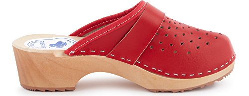 Rosso Donna Pantofole Zoccoli Sabot Ladeheid LABR307 Ciabatte YS0wZ