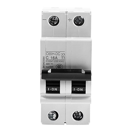 2P 250V Low-voltage DC Miniature Circuit Breaker For Solar Panels Grid System din rail mount 16A Dc Circuit Breaker Panel
