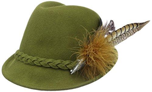 trachtenhut Alpenflüstern Hanna grün Filz Trachtenhüte Fasanenfederbrosche 50 Grün Femme Mit ffAaq5w