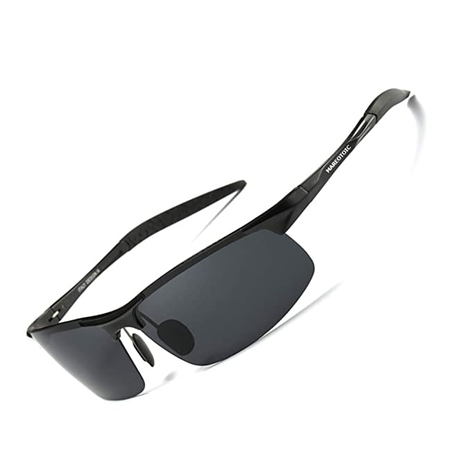 d542a5a3776 Mareotic Driving Polarized Sunglasses for Men UV Protection Ultra  Lightweight Al Mg Golf Fishing Sports Driving