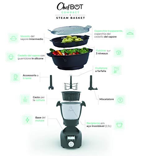 IKOHS CHEFBOT COMPACT - Robot da Cucina Multifunzione, Compatto, 23 Funzioni, 10 Velocità con Turbo, 3,5 Litri in… 5