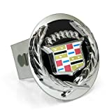 3D Black Infill Logo Steel Tow Hitch Cover Plug for Cadillac Classic