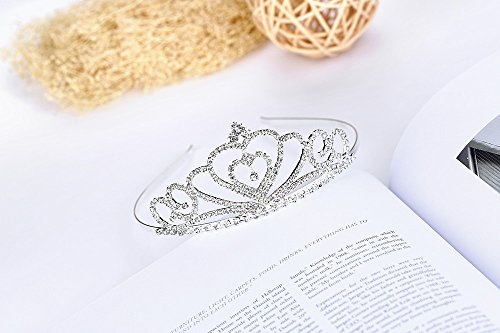 Lovelyshop Rhinestone Crystal Tiara-Wedding Bridal Prom Birthday Pegeant Prinecess Crown (Heart) by Lovely Shop (Image #3)