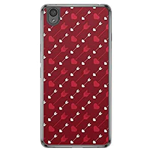 Loud Universe OnePlus X Love Valentine Printing Files Valentine 60 Printed Transparent Edge Case - Red/White