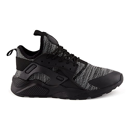 FiveSix Herren Damen Sneaker Sportschuhe Laufschuhe Freizeitschuhe Textilschuhe Camouflage Schnürschuhe Low-Top Unisex Schuhe Schwarz/Grau-M