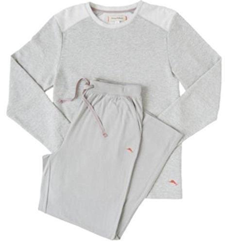 tommy-bahama-mens-pajama-set-crew-neck-top-and-drawstring-pant-grey