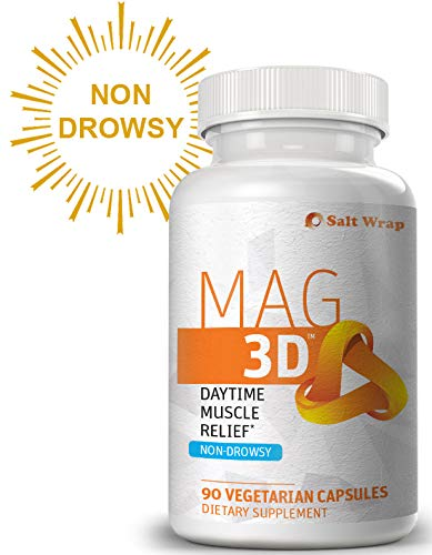 Mag 3D Daytime Muscle Relaxation (Non-Drowsy) with Magnesium Malate for Natural Muscle Cramp and Spasm Relief, 90 Capsules (Best Homeopathic Medicine For Vitamin D Deficiency)