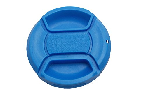 Koala Cam - Premium Blue Color Pinch Lens Cap Cover for DSLR Cameras for Sony, Nikon, Canon, etc Bundle with Cleaning Cloth (49mm) from Koala Cam