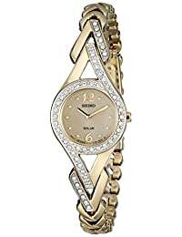 Seiko Women's SUP176 Swarovski Crystal-Accented Stainless Steel Solar Watch