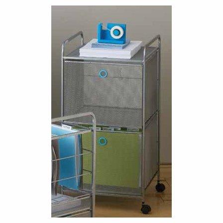Design Ideas Digit File Cabinet, Orange by Design Ideas