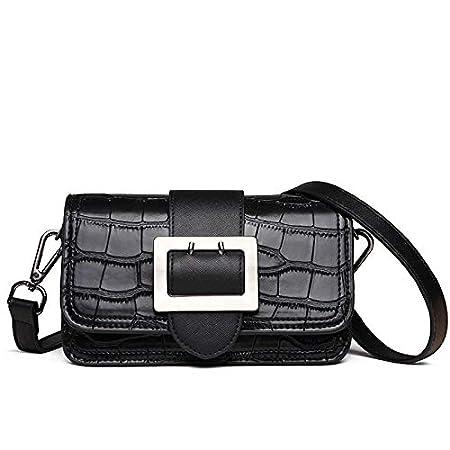 Color : Blue Bvilage Crocodile Pattern Color Matching Messenger Bag Shoulder Slung Small Bag Female