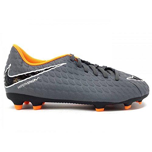 Nike Jr Phantom 3 Club FG, Zapatillas de Fútbol Unisex Niños Gris (Dark Greytotal Orangewhite 081)