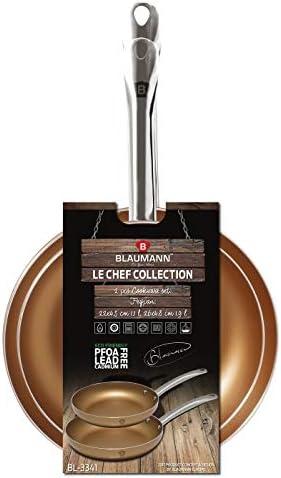 BLAUMANN - Ensemble de 2 friteuses cuivrées Le Chef Line