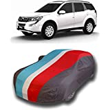 Dream Store Presents Supreme Quality Water Resistant Car Cover for Mahindra XUV 500 with Hard Triple Stitched Fully Elastic (Baklol Red Blue Gray with Mirror Pockets)