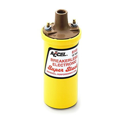 (ACCEL 8145 Performance Universal SuperStock Yellow Breakerless Electronic Coil)