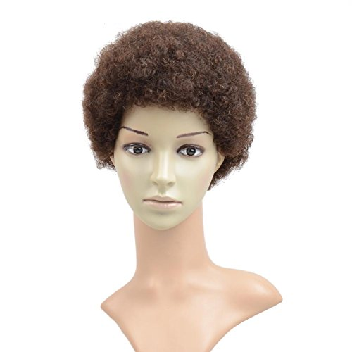 Razeal Afro 2 Short Afro Kinky Curly Wig with Brazilian Hair Black Human Hair Wigs - Wigs For Black Women - Short Wig Capless Wigs - Kinkys Curly Hair Wig (#2)