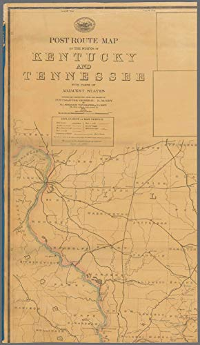 Vintography Reprinted 18 x 24 1880 Map of Washington, D.C. The Railroads of The State of Massachusetts Post Office Department 0 0 17a by Vintography