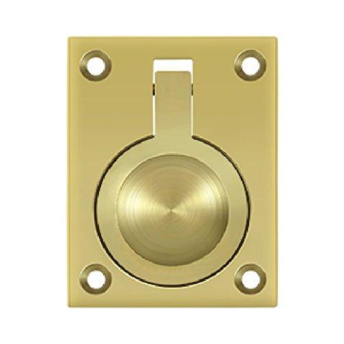 Flush Ring Pull Polished Brass - Deltana FRP25U3 2 1/2-Inch x 1 7/8-Inch Solid Brass Flush Ring Pull
