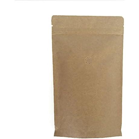 Price 50 PCS Aspire Kraft Coffee Bags With Degassing Valve And Ziplock Multiple Sizes 4oz 8oz 16oz FDA Compliant 4oz 1000