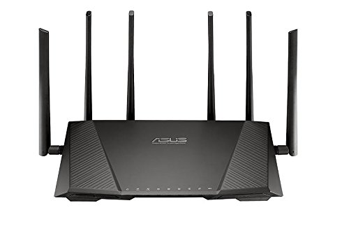 ASUS RT-AC3200 Tri-Band Wireless Gigabit Router with USB 3.0 and 3G/4G Dongle Support - Black