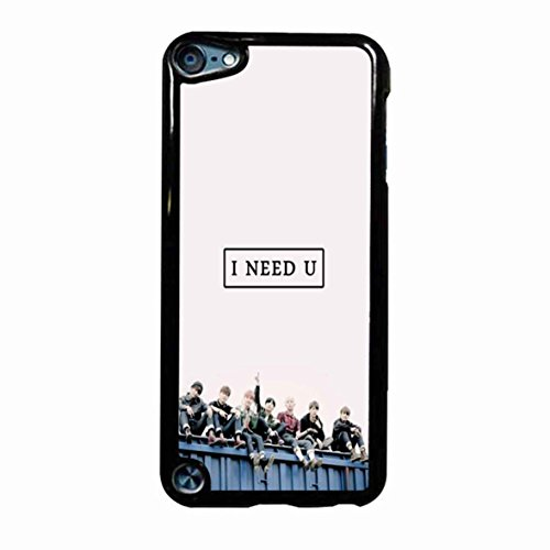 Bts I Need U Logo Blue 2 Case / Color White Plastic / Device iPod Touch 5