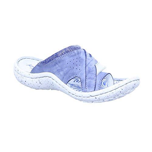 KRISBUT Women Mules Blue, (Blau-Kombi) 7002-2-1 blau-kombi
