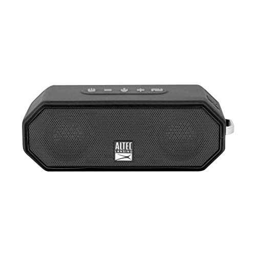Altec Lansing IMW449 Jacket H2O 4 Rugged Floating Ultra Portable Bluetooth Waterproof Speaker with up to 10 Hours of Battery Life, 100FT Wireless Range and Voice Assistant Integration (BLK)