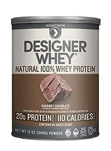 Designer Whey Premium Natural 100% Whey Protein, Gourmet Chocolate, 12 Ounce