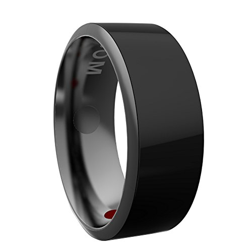 60mm Universal Titanium Waterproof App Enabled Smart Ring NFC Smart Ring for iOS Android Windows NFC Mobile Phones Samsung iPhone Sony Black NO.9 by Sopear