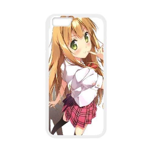 Azusa Azuki coque iPhone 6 Plus 5.5 Inch Housse Blanc téléphone portable couverture de cas coque EBDOBCKCO11332