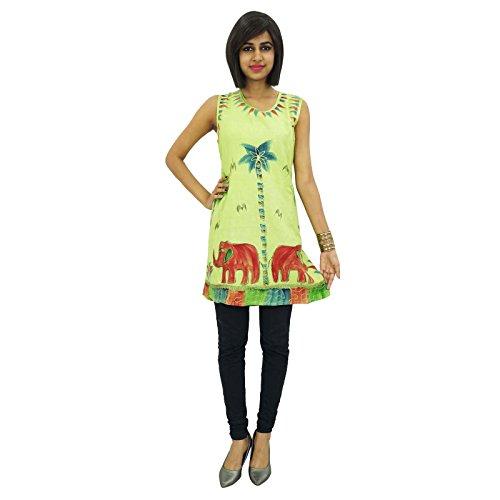 Indianbeautifulart Baum und Tier gestickten Frauen beiläufiges Kleid ...
