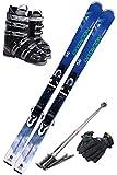 【5点セット】 SWALLOW (スワロースキー) スキーセット 18-19 ROTACION 4A (スキー板/ビンディング/ストック/ブーツ/グローブ)
