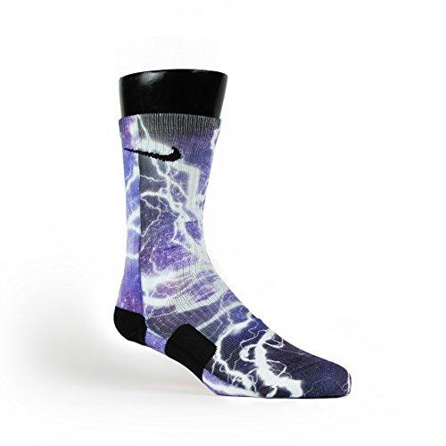 Price comparison product image HoopSwagg Lightning Galaxy Custom Nike Elite Socks Large