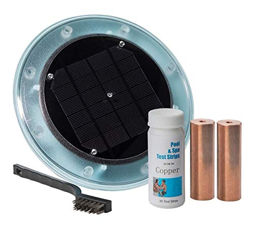 (DR Global Solar Pool Ionizer Kills Algae and Other Organisms Using 85% Less Chlorine 100% Natural Save $300-$500 a Year in Chemicals Year Round Protection)