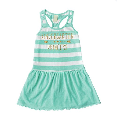 1st Day of Kindergarten Shirt, Girl Back to School Clothes (6X) Green