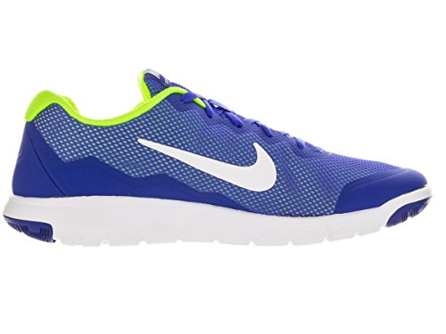 Nike Flex Experience RN 4, Scarpe da Corsa Uomo Blu / Bianco / Giallo (Racer Blue / White-volt-white)