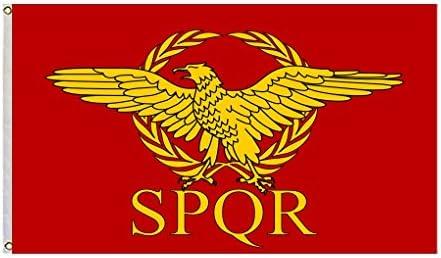 Imperio romano Senado y pueblo de Roma bandera Tamaño 3 X 5 pies: Amazon.es: Jardín
